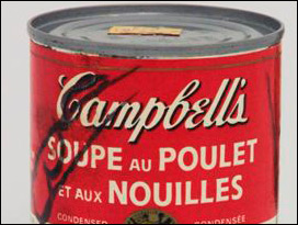 Andy Warhol Signed Soup Can