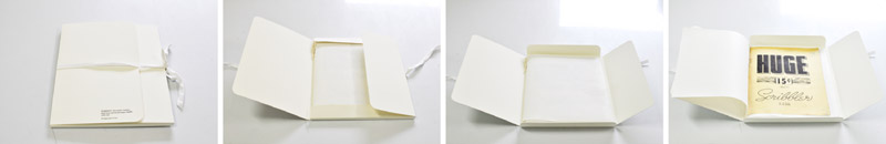 Archival storage – the documents are prepared for long-term preservation storage. The pages are inteleafed with acid-free, buffered paper and placed in a custom-made rag matte clamshell housing.