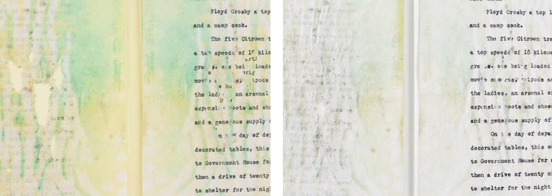 Detail of the typewritten document.